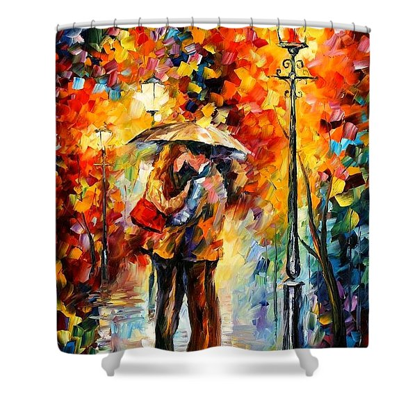 Kiss Under The Rain Shower Curtain
