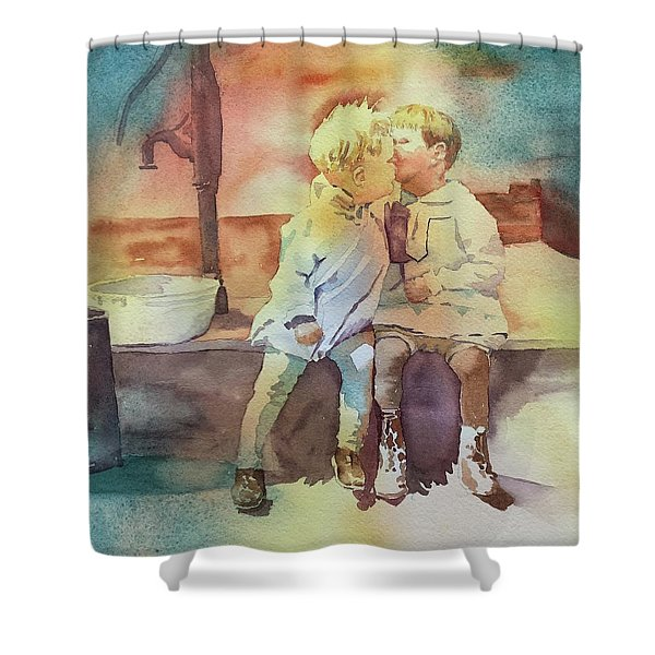 Kissing Cousins Shower Curtain