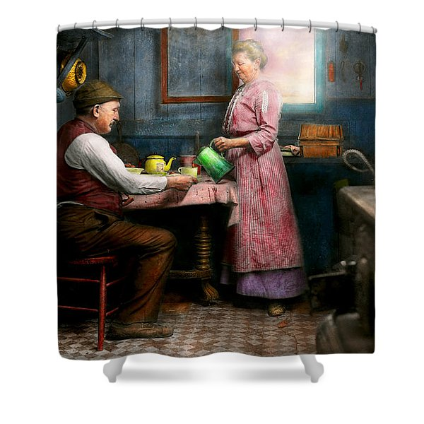 Kitchen - Morning Coffee 1915 Shower Curtain