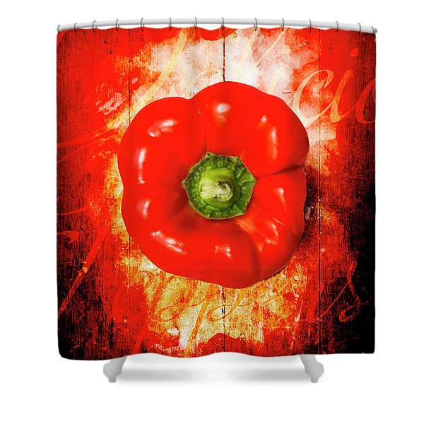 Kitchen Red Pepper Art Shower Curtain