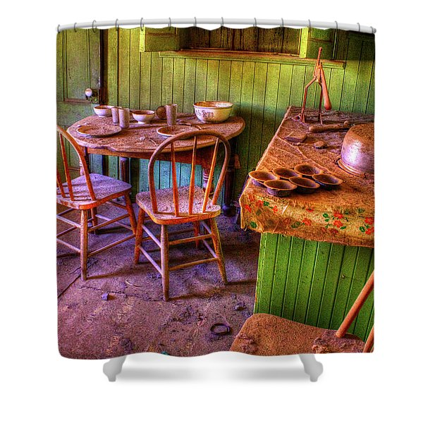 Kitchen Table Bodie California Shower Curtain