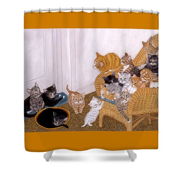 Kitty Litter II Shower Curtain