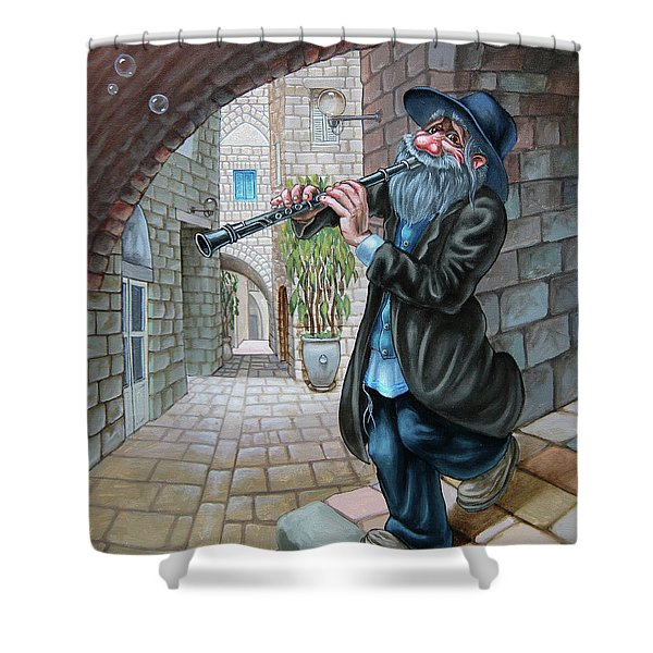 Klezmer Shower Curtain