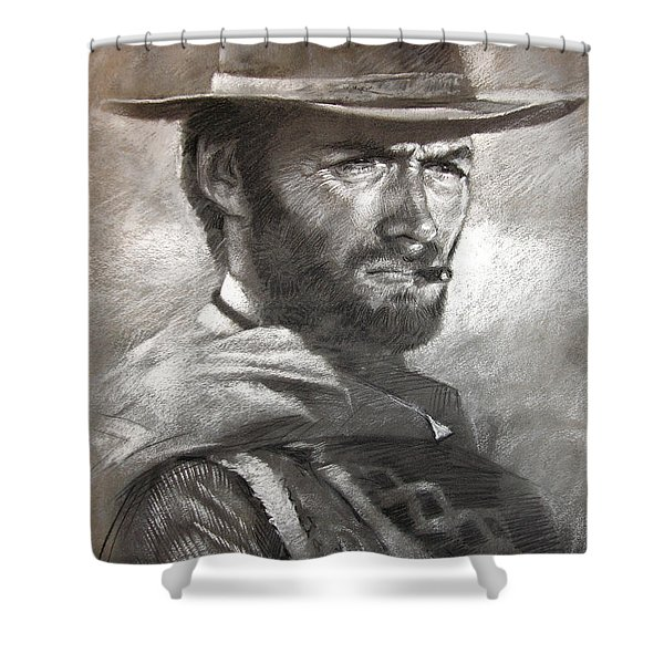 Klint Eastwood Shower Curtain
