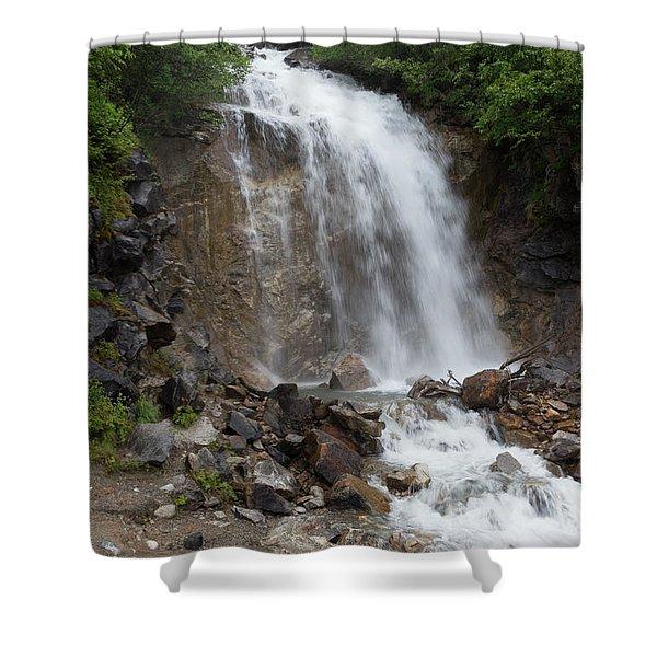 Klondike Waterfall Shower Curtain