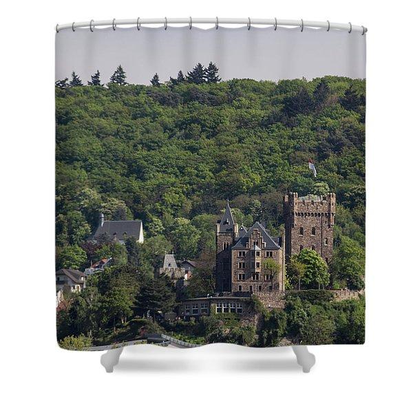 Klopp Castle Bingen Germany Squared Shower Curtain