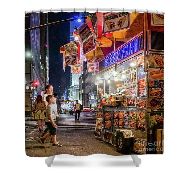 Knish, New York City  -17831-17832-sq Shower Curtain