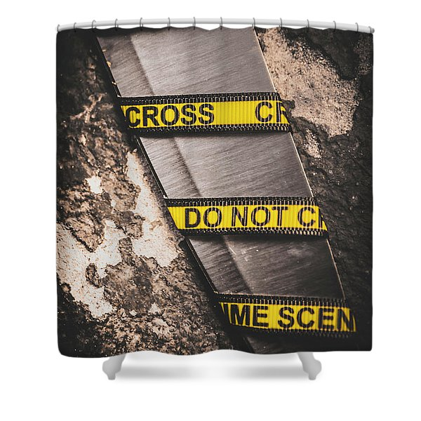 Knives And Clues Shower Curtain