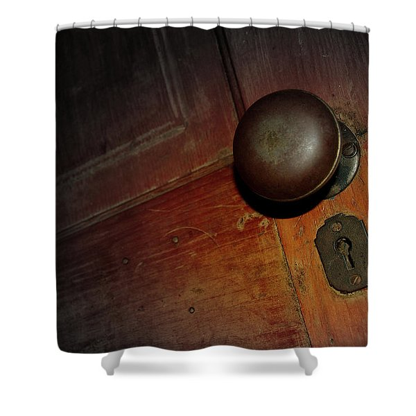 Knob Of Old Shower Curtain