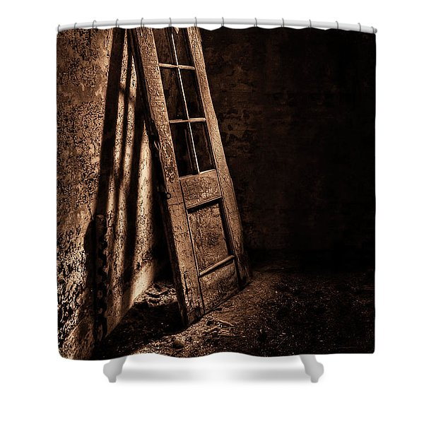 Knockin' At The Wrong Door Shower Curtain