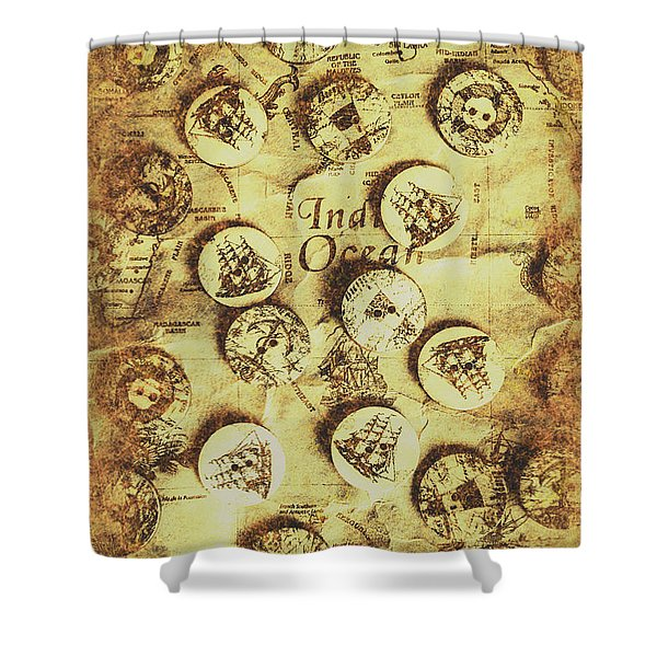 Knots And Buttons Shower Curtain