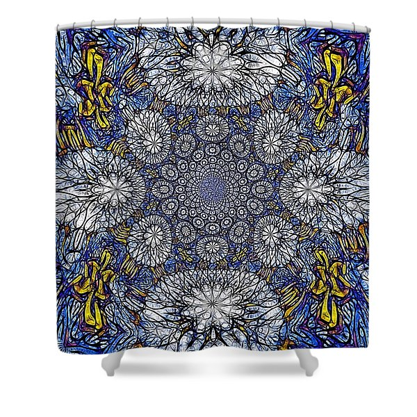 Knotted Glasswork Shower Curtain