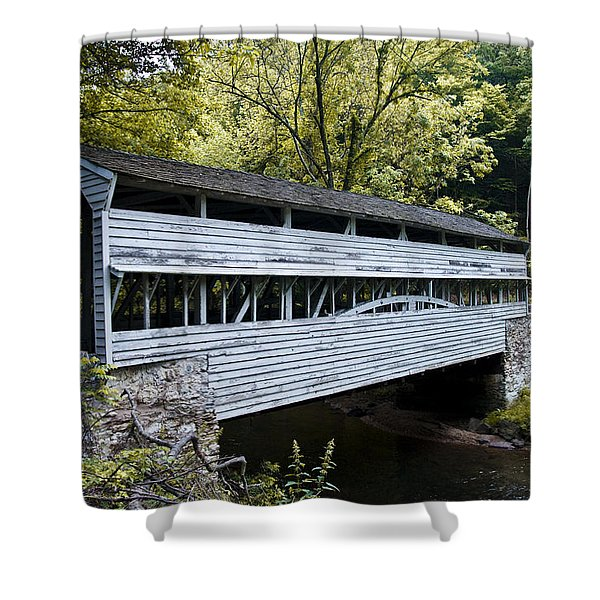 Knox Covered Bridge - Valley Forge Shower Curtain by Bill Cannon