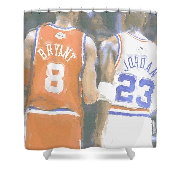 Kobe Bryant Michael Jordan 2 Shower Curtain