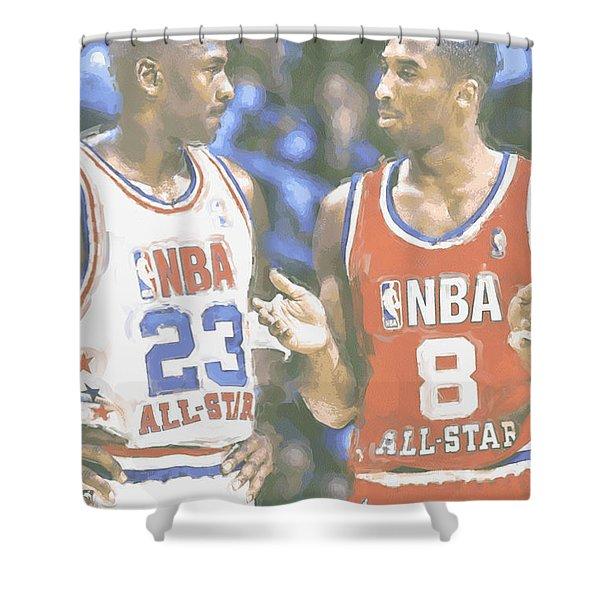Kobe Bryant Michael Jordan Shower Curtain