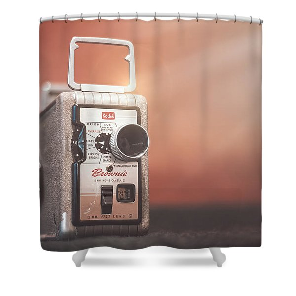 Kodak Brownie 8mm Shower Curtain