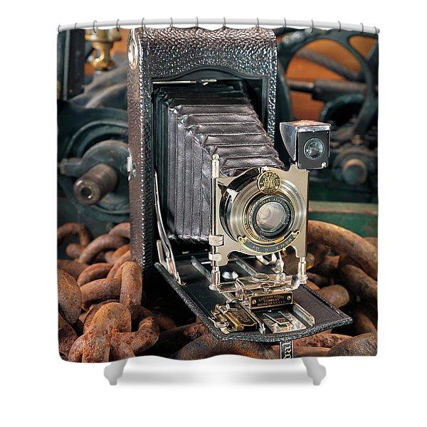Kodak No. 3a Autographic Camera Shower Curtain