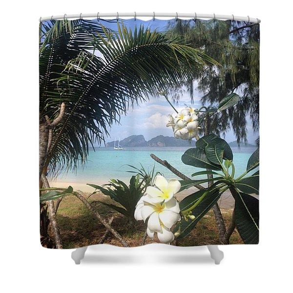 An Island Far Away Shower Curtain