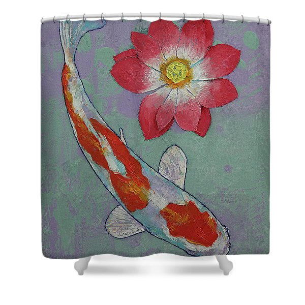 Koi And Lotus Shower Curtain
