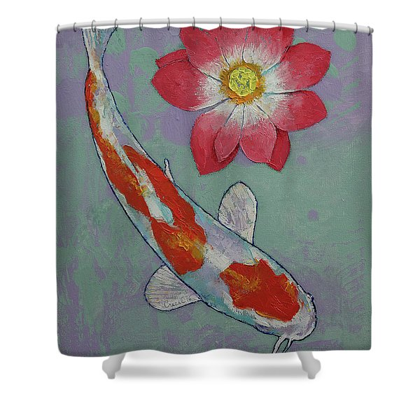 Koi And Lotus Shower Curtain
