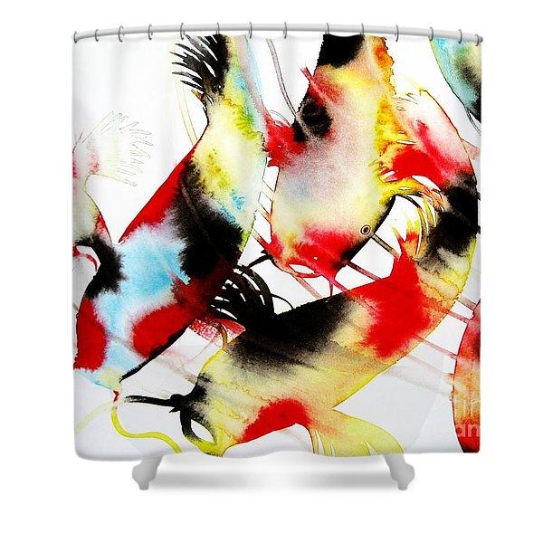 Koi Dance Shower Curtain