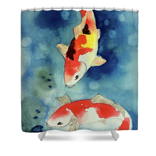 Koi Fish 3  Shower Curtain