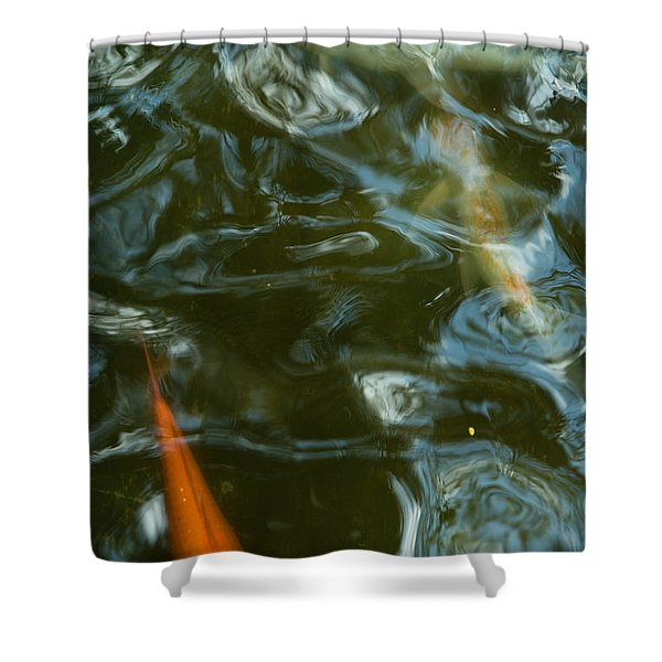 Shower Curtain featuring the photograph Koi II by Break The Silhouette