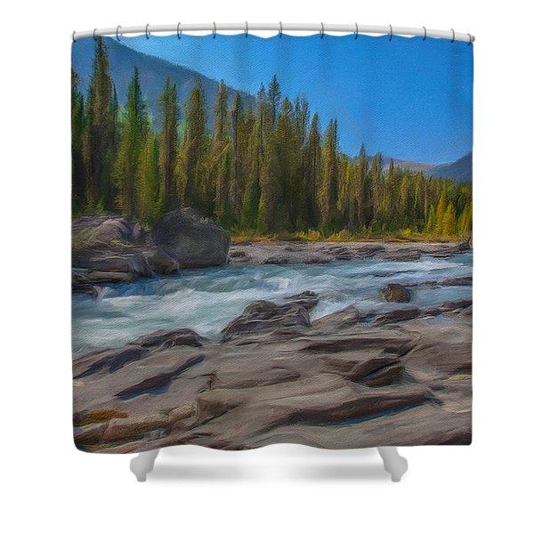 Kootenay River Shower Curtain