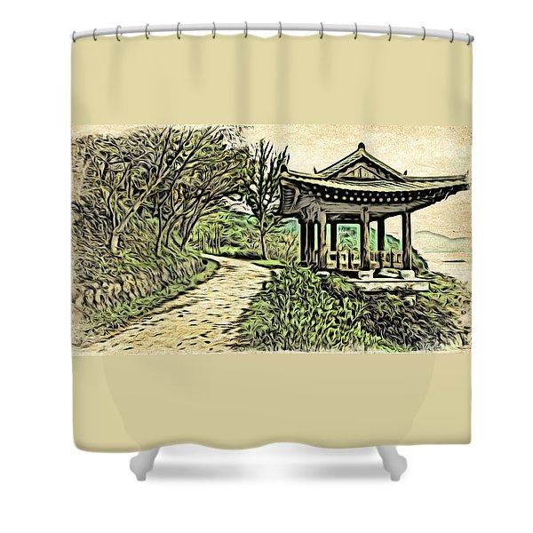 Korean Architecture Shower Curtain