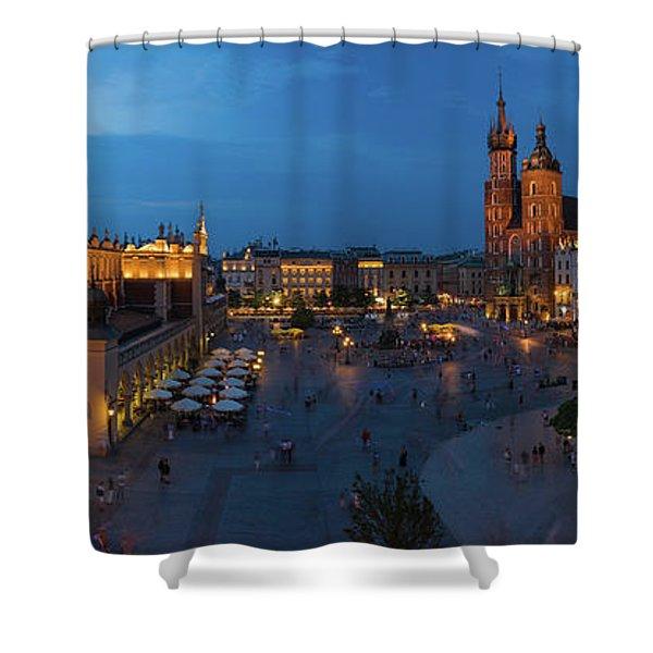 Krakow Poland Main Square Shower Curtain