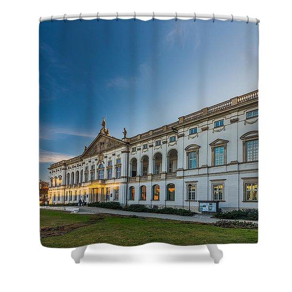 Krasinski Family Palace In Warsaw Shower Curtain