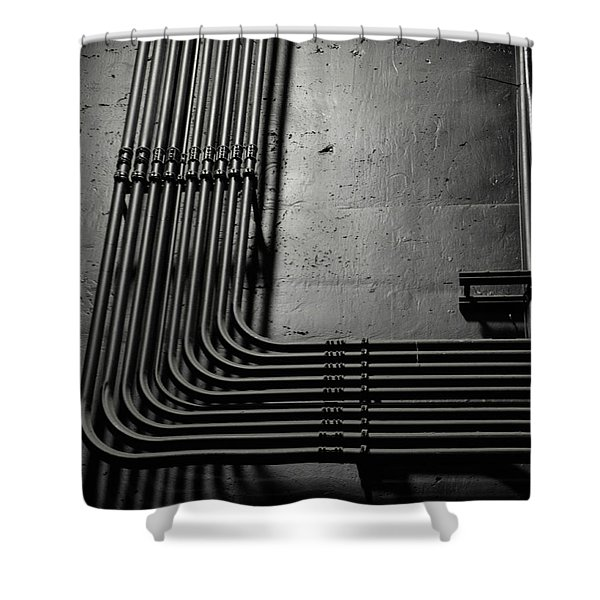 Kravis Pipes Shower Curtain
