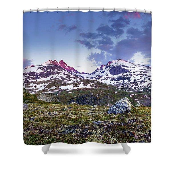 Crimson Peaks Shower Curtain