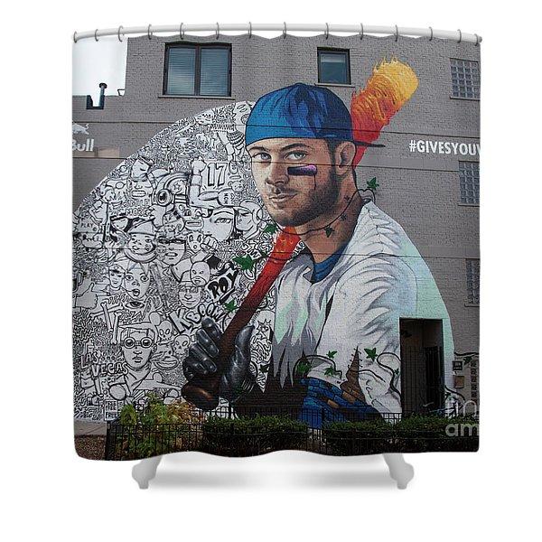 Kris Bryant Mural Shower Curtain