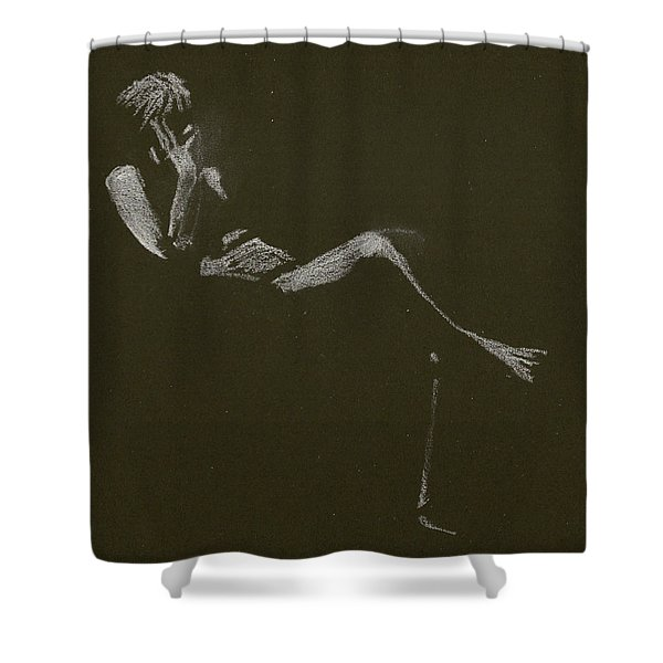 Kroki 2015 01 10_5 Figure Drawing White Chalk Shower Curtain