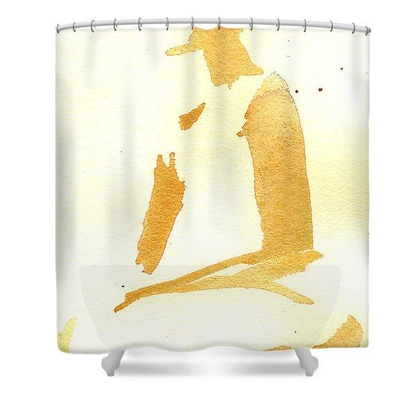 Kroki 2015 03 28_29 Maalarhelg 3 Akvarell Watercolor Figure Drawing Shower Curtain
