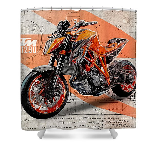 Ktm 1290 Super Duke R Shower Curtain