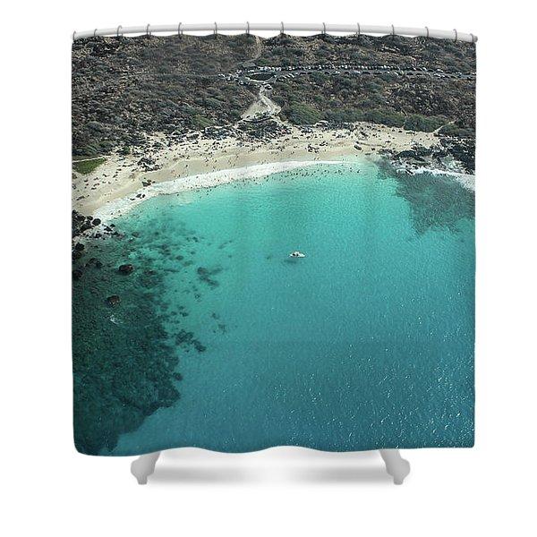 Kua Bay Aerial Shower Curtain