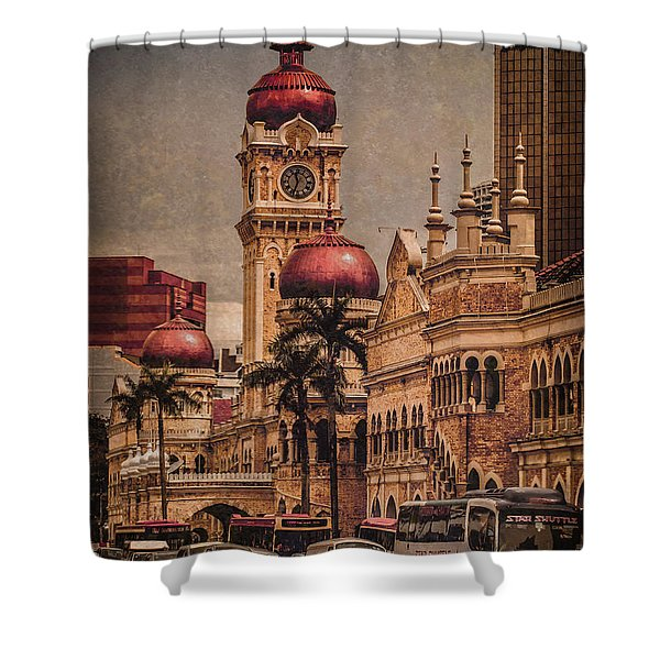 Kuala Lumpur, Malaysia - Red Onion Domes Shower Curtain