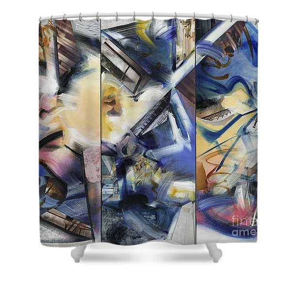 Kuan Answers According To A. W. Watts Shower Curtain