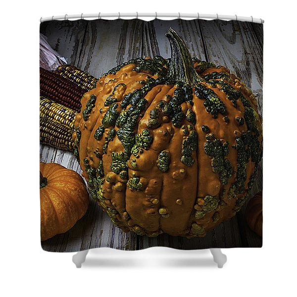 Kunklehead With Corn Shower Curtain