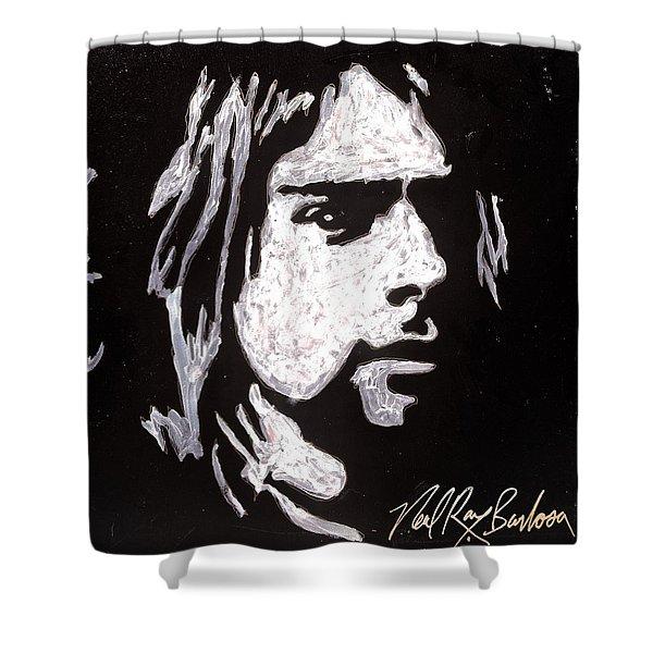 Kurt Kobain Shower Curtain