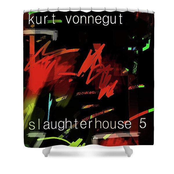 Kurt Vonnegut Poster  Shower Curtain