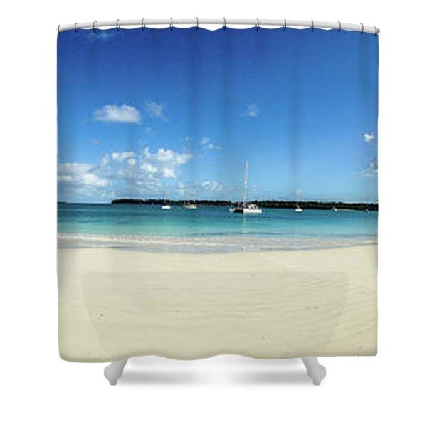 Kuto Bay Morning Pano Shower Curtain