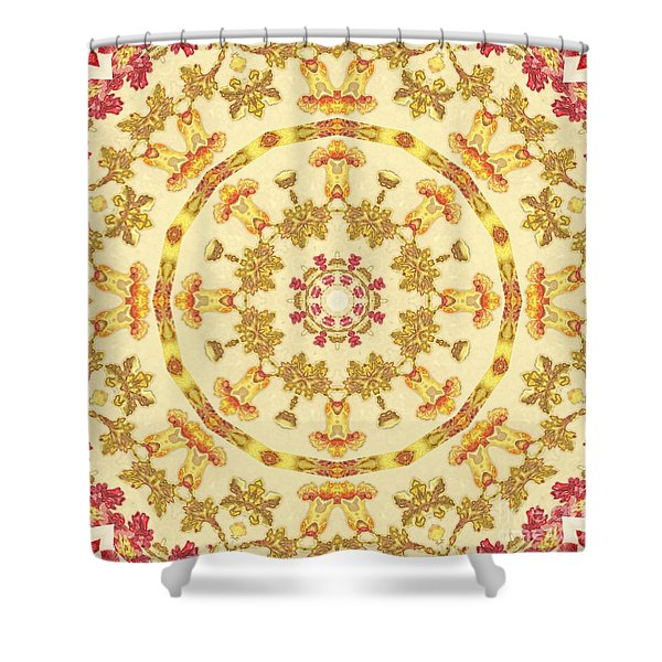 Shower Curtain featuring the mixed media KV1 by Writermore Arts
