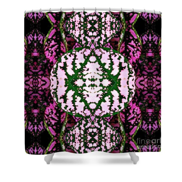 Shower Curtain featuring the mixed media KV2 by Writermore Arts