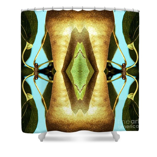 Shower Curtain featuring the mixed media KV5 by Writermore Arts