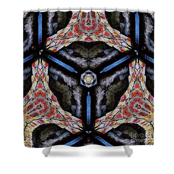 Shower Curtain featuring the mixed media KV6 by Writermore Arts