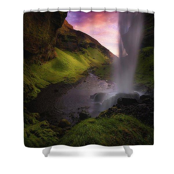 Kvernufoss Shower Curtain