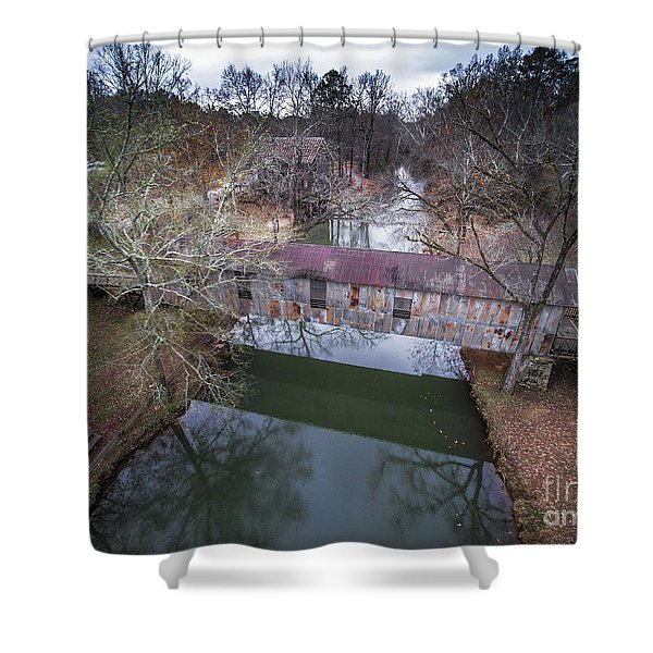 Kymulga Covered Bridge Aerial 2 Shower Curtain